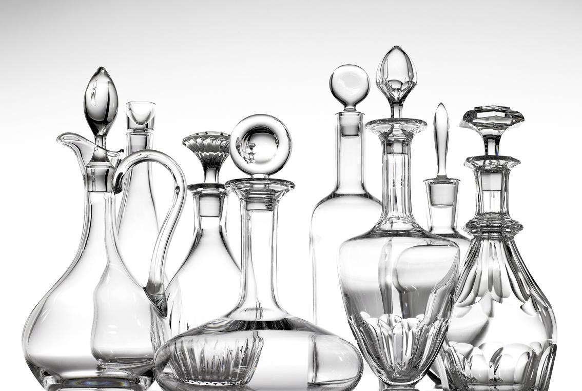Decantadores de vino en cristal Baccarat