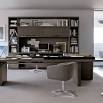 Despacho home office con mobiliario de oficina de B&B Italia