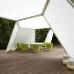 Gazebos, pérgolas y estructuras de sombra innovadores
