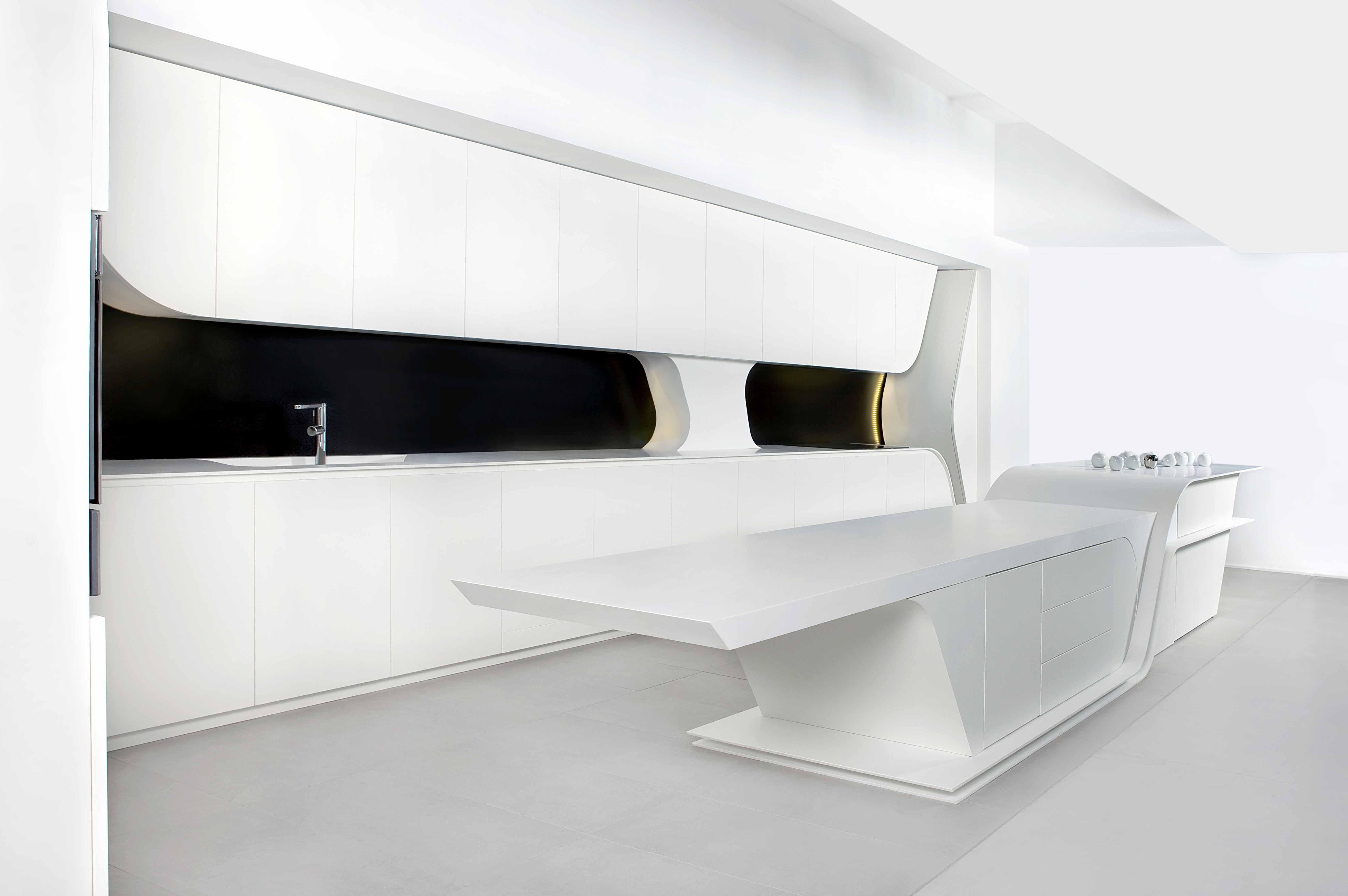 Cocina de dise o vanguardista modelo wave gunni trentino for Gunni trentino hogar