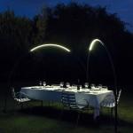 Iluminación exterior en forma de arco modelo Halley