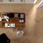 Imitación madera en espiga de gres porcelánico