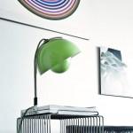 Lámpara de mesa verde Flowerpot