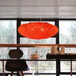 Lámpara de techo moderna roja de Arturo Álvarez