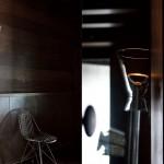 Lámpara moderna de pie tulipa transparente