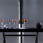 Lámparas de mesa clásicas de cristal Baccarat