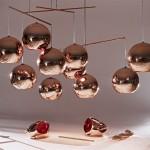 Lámparas esféricas en acabado cobre de Tom Dixon