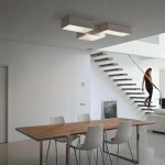 Lámparas rectangulares de techo en metacrilato
