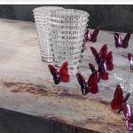Las mariposas en cristal rojo de Baccarat