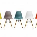 Las sillas Plastic de los Eames, en sus distintos colores.