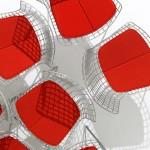 Las sillas en malla metálica de Harry Bertoia