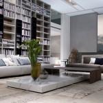 Librería y sofás modulares de Poliform
