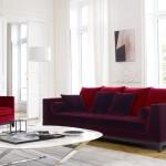 Living-room con sofá Lutetia de Maxalto