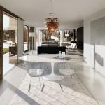 Mesa oval de comedor Saarinen con sobre en mármol