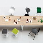Mesa rectangular de madera enchapada
