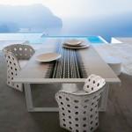 Muebles de exterior modernos serie Canasta de Patricia Urquiola