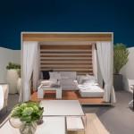Pérgolas clásicas, gazebos y camas de día de exterior