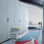 Puertas para armarios con acabados texturizados de Poliform