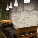 Revestimiento de pared en mosaico de madera de Roble Blanco Perla