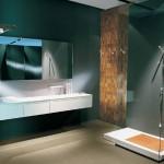 Revestimientos de pared y suelo de mosaicos en madera maciza