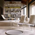 Salón moderno con butacas y chaise longue de Antonio Citterio para B&B Italia