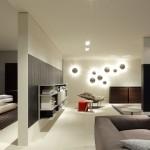 Salón y dormitorio con mobiliario moderno de Poliform