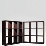 Sistema de estanterías en madera Epicuro