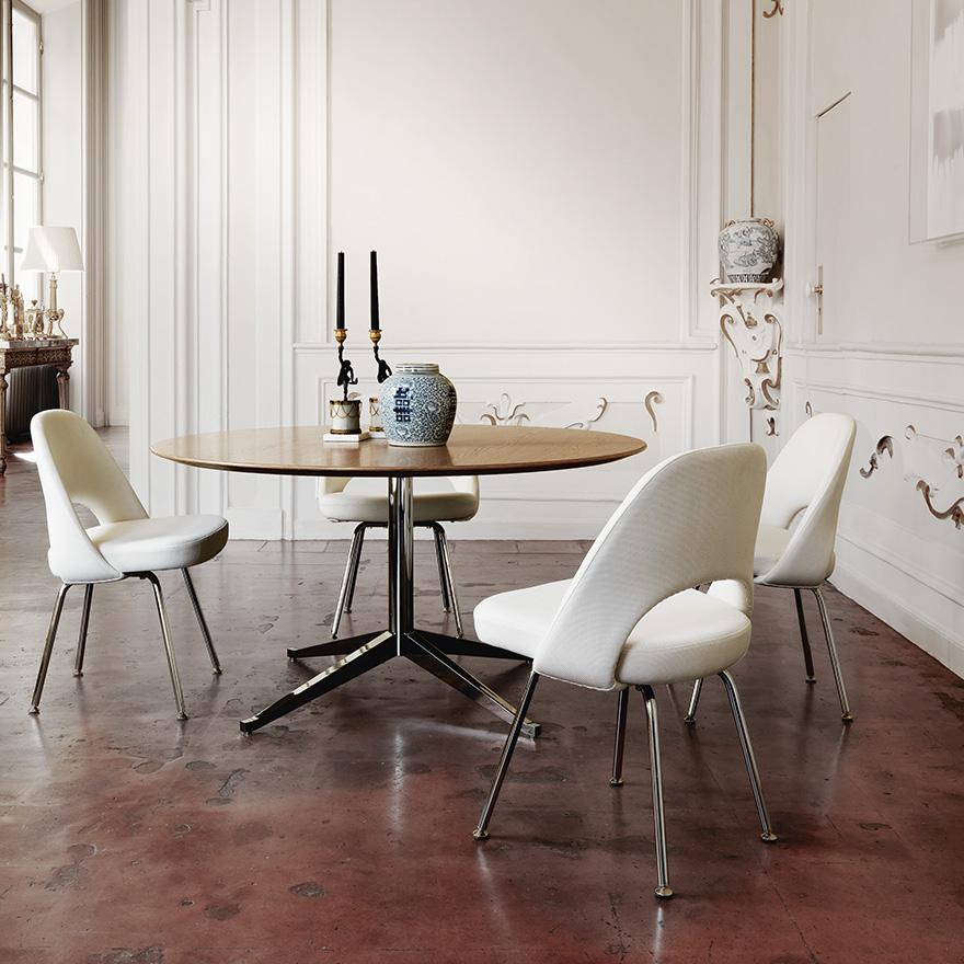 florence-knoll-table-desk-saarinen-executive-armless-chair