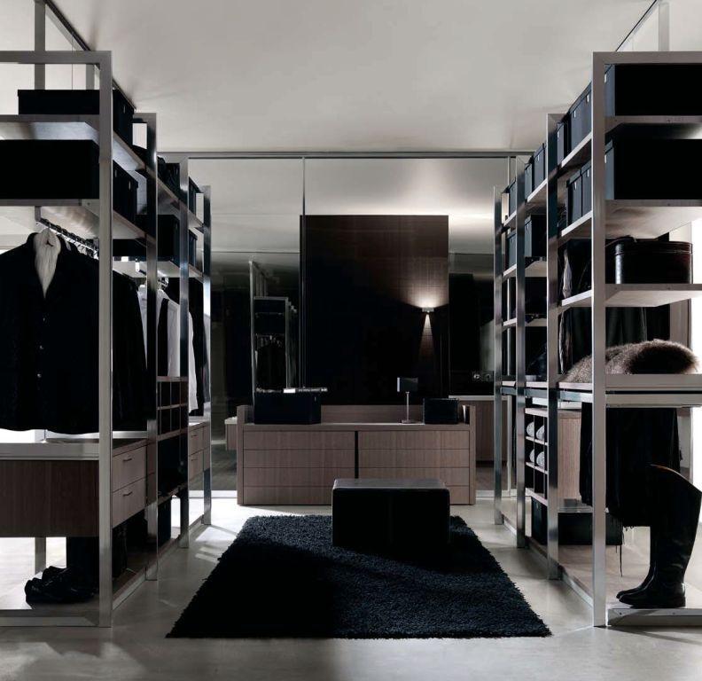 Espacios Gunni&Trentino vestidor metal y madera LOW