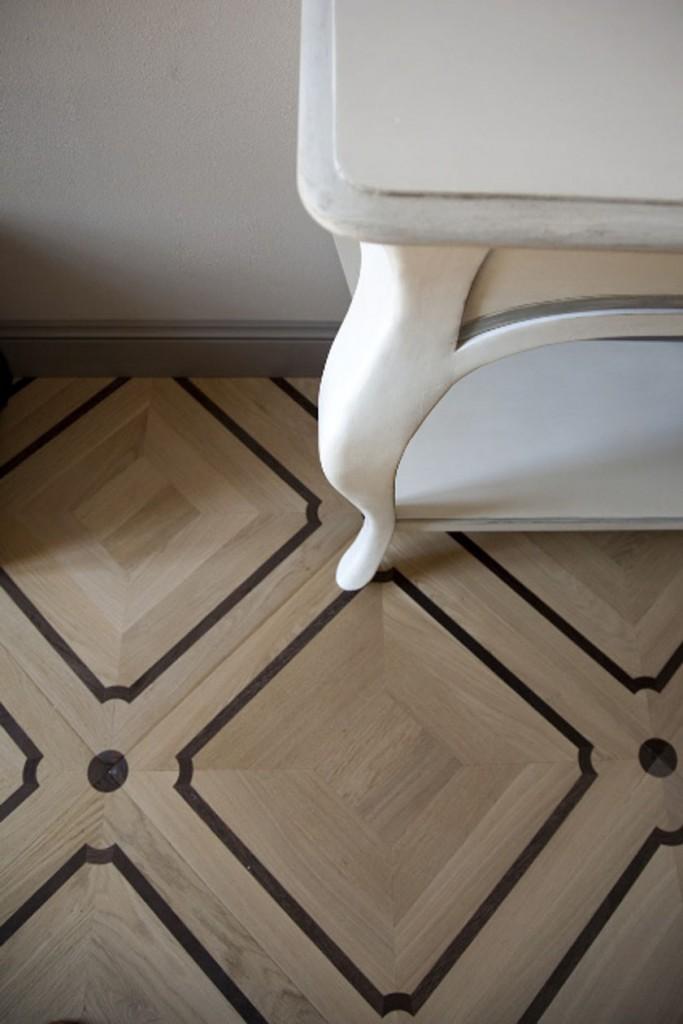 Suelos de madera con dibujo clásico Intarsia