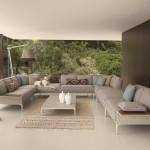Sofás componibles para exterior e interior, de Dedon