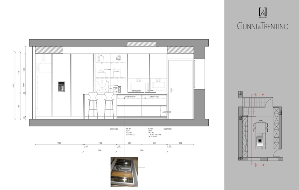 alzado cocina 1 para diseño y montaje