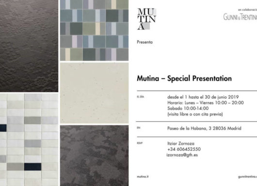 Exposición de cerámicas: Lo nuevo de MUTINA en GUNNI&TRENTINO