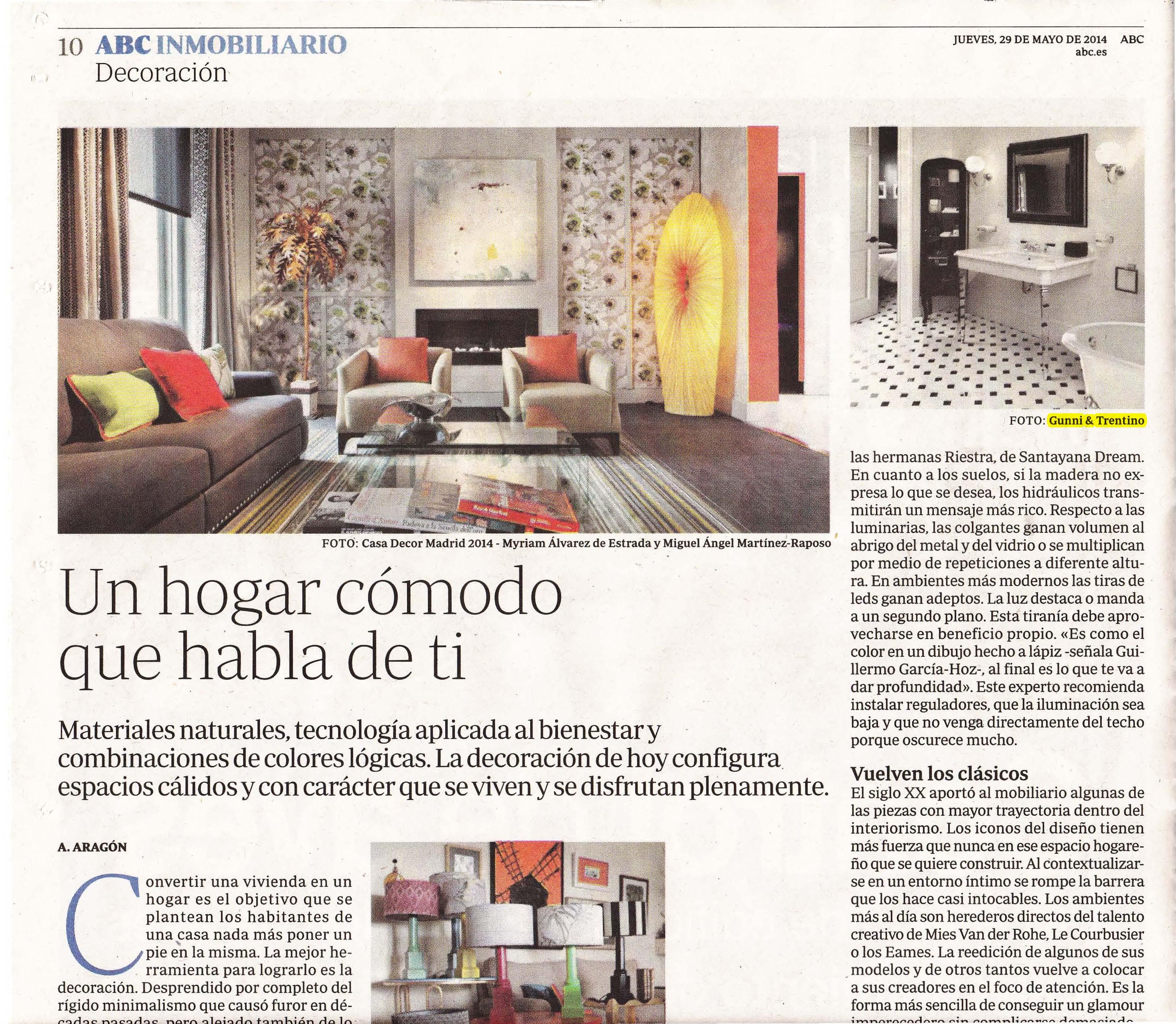 , ABC Inmobiliario mayo 2014, Gunni & Trentino