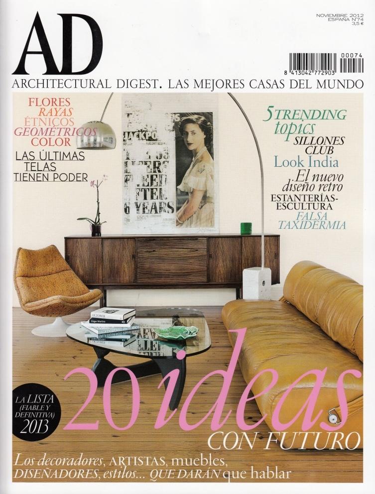 Mobiliario Interior de Diseño de Gunni & Trentino en Portada AD Noviembre 2012