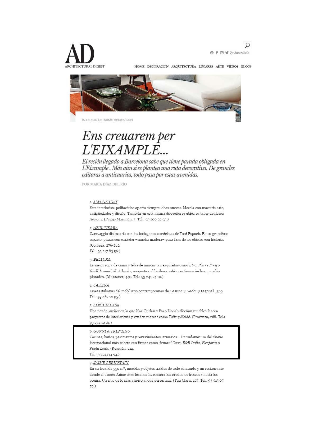 , AD online noviembre, Gunni & Trentino