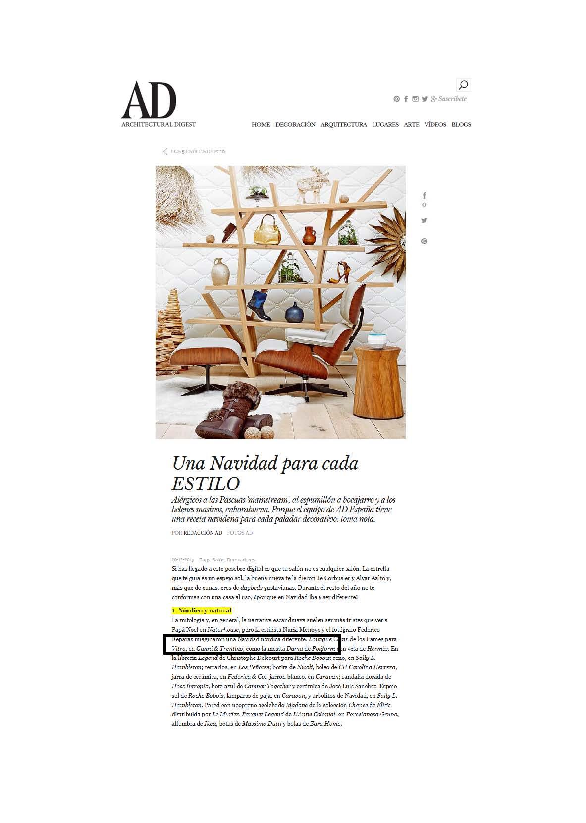 , AD online diciembre, Gunni & Trentino