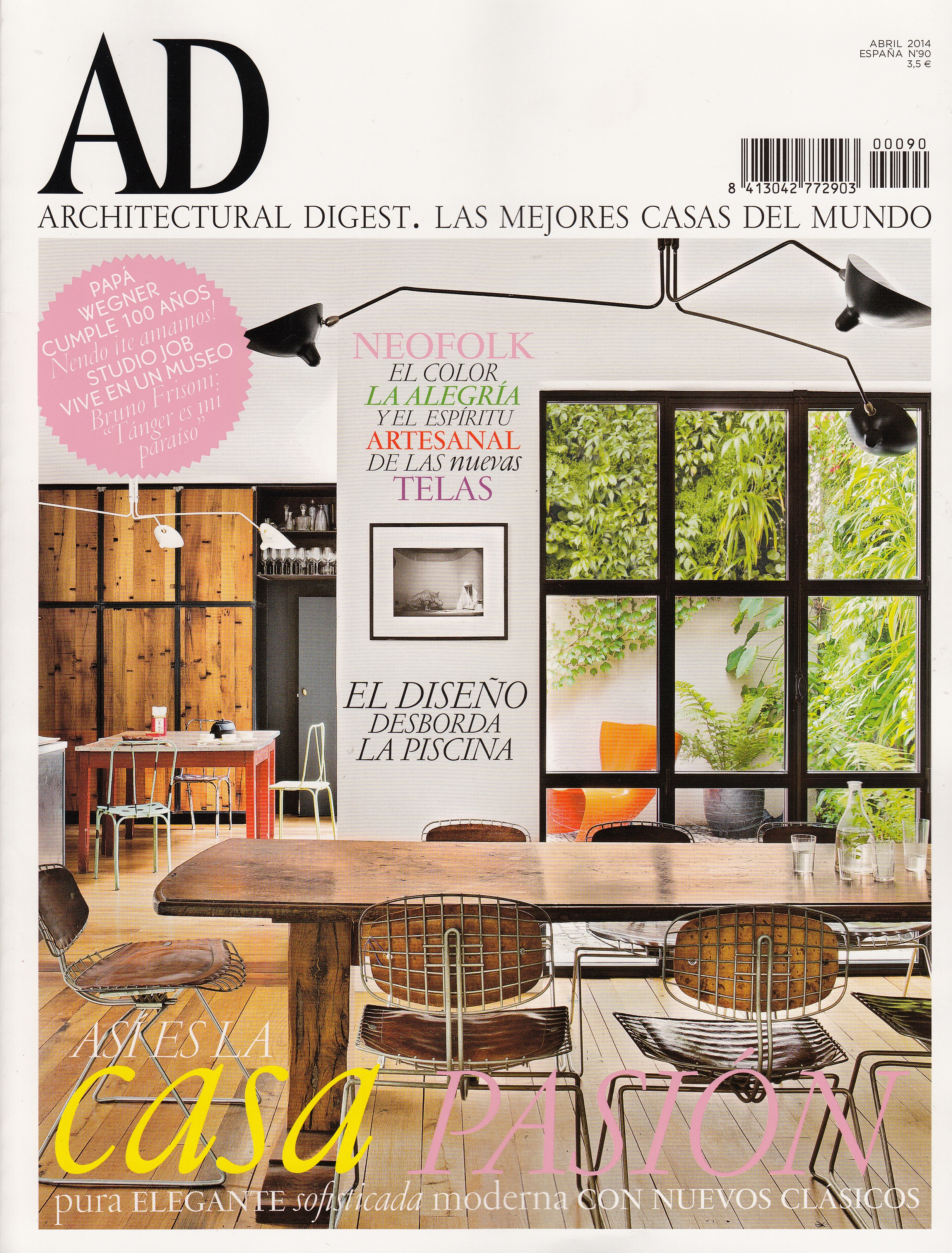 Mobiliario Interior de Diseño de Gunni & Trentino en Portada AD Abril 2014