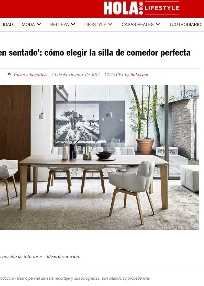 , HOLA BLOG LIFESTYLE Cómo elegir las sillas, Gunni & Trentino