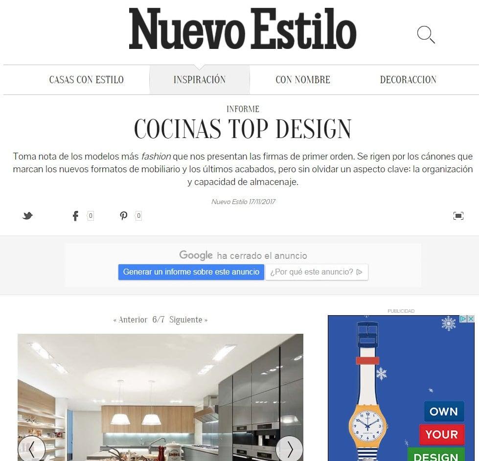 Cocina con Mobiliario de Diseño y Lujo de Gunni & Trentino en Portada Digital de Nuevo Estilo