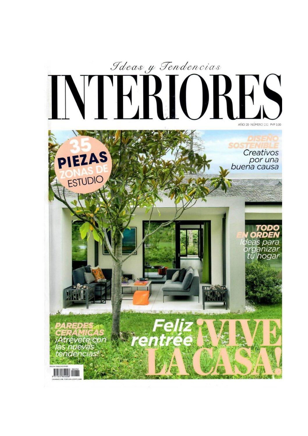 , Revista Interiores Septiembre 2020, Gunni & Trentino