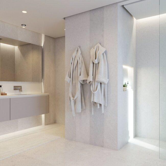 baño de diseño en exposición